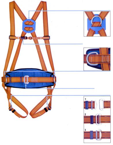 harnais attache au dos et ceinture de maintien levac rfi. Black Bedroom Furniture Sets. Home Design Ideas